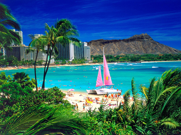 Biển Waikikli được xếp vào trong những bãi biển đẹp nhất thế giới